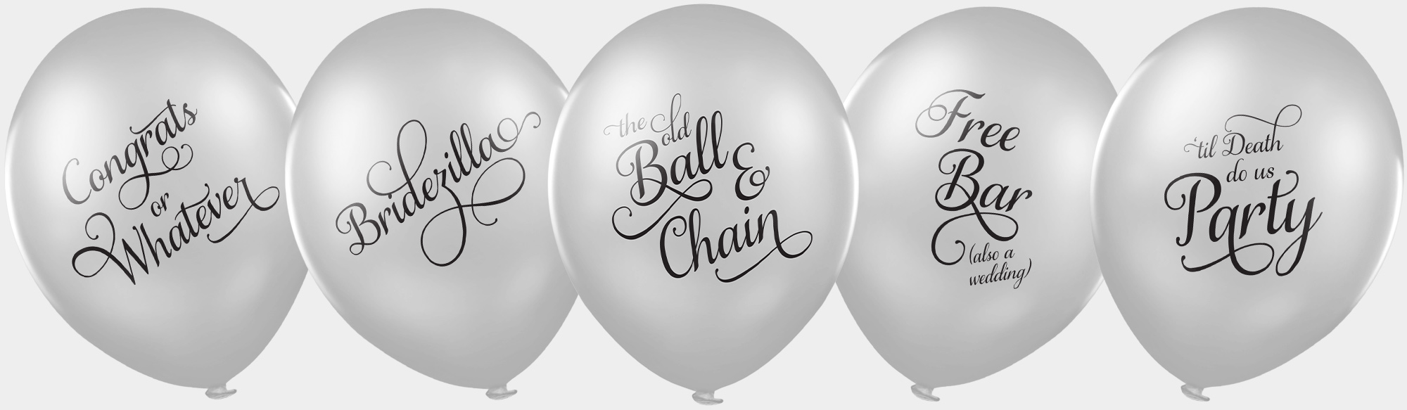 funny wedding balloons bumper pack