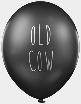 old cow balloons