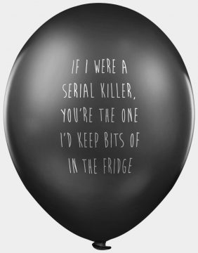 Offensive abusive rude party balloons